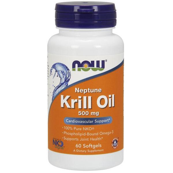 Neptune Krill Oil 500 mg NKO, 60 Softgels, NOW Foods