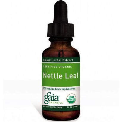 Nettle Leaf Liquid, Certified Organic, 1 oz, Gaia Herbs