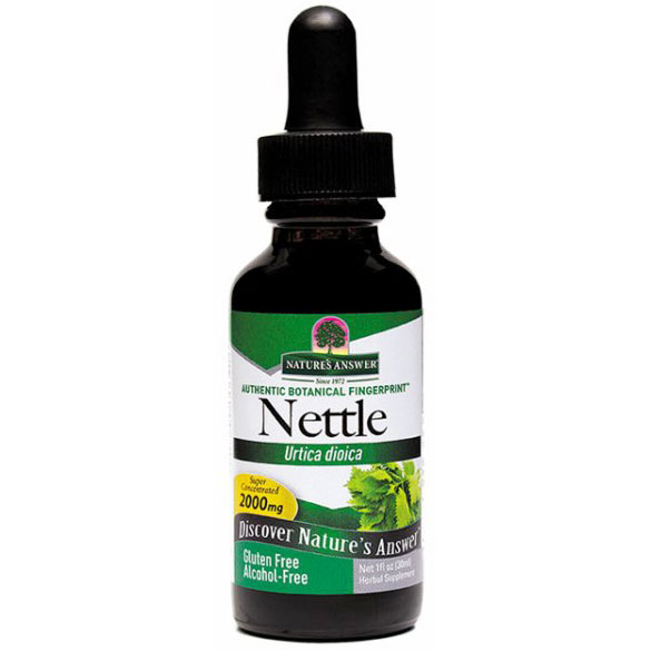 Nettles (Nettle Leaf) Alcohol Free Extract Liquid 1 oz from Nature's Answer