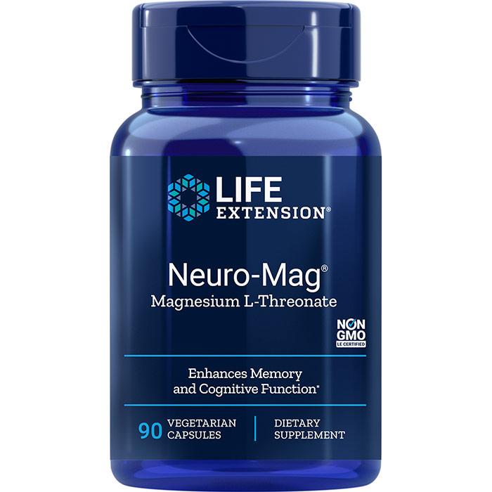 Neuro-Mag Magnesium L-Threonate, 90 Vegetarian Capsules, Life Extension