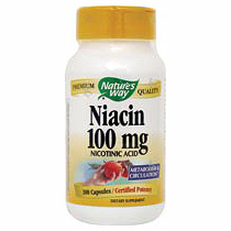 Niacin 100 mg 100 caps from Natures Way