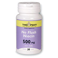 Niacin Flush-Free 500mg 30 caps, Thompson Nutritional Products