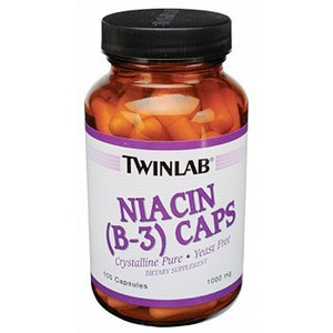 Niacin (Vitamin B-3) 500mg 100 caps from Twinlab
