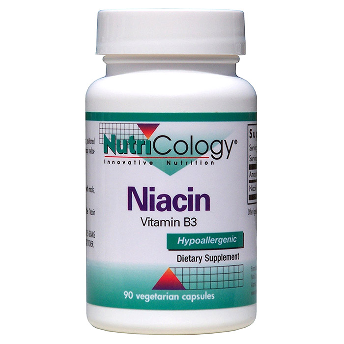 Niacin Vitamin B3 250mg 90 caps from NutriCology