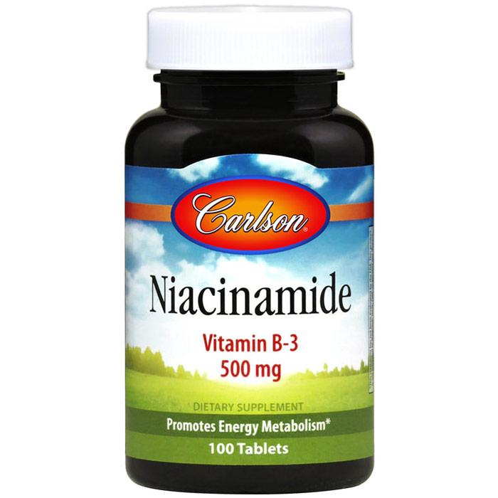 Niacinamide, 500 mg, 250 tablets, Carlson Labs