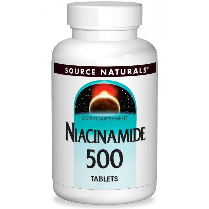 Niacinamide 500 mg, Value Size, 240 Tablets, Source Naturals