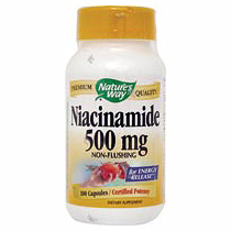 Niacinamide 500 mg 100 caps from Natures Way