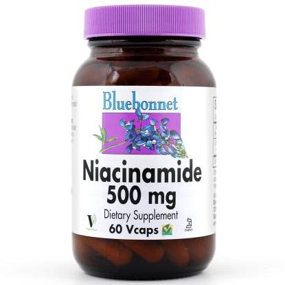 Niacinamide 500 mg, 60 Vcaps, Bluebonnet Nutrition