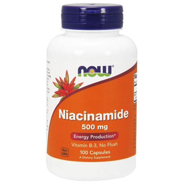 Niacinamide (B-3) 500mg 100 Caps, NOW Foods