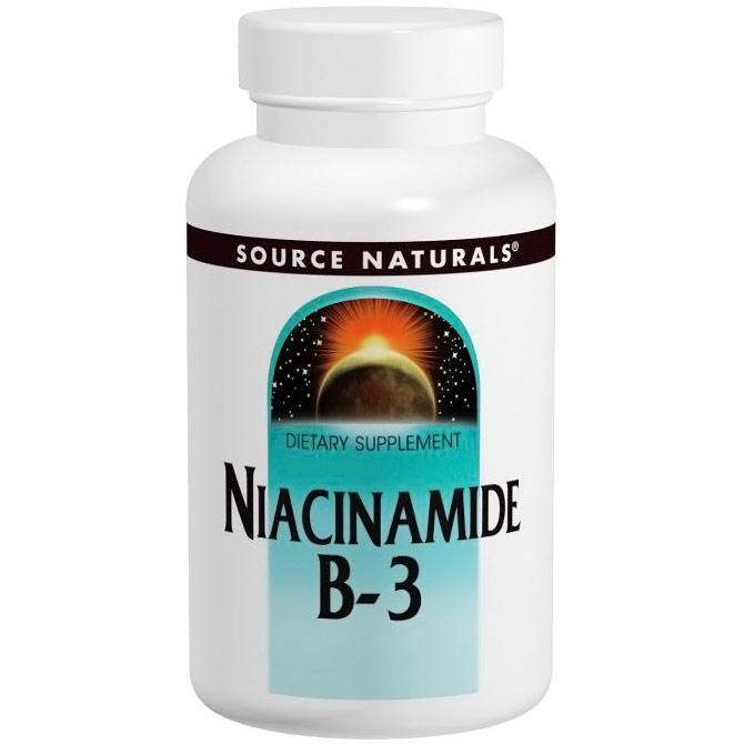 Niacinamide Vitamin B-3 1500mg 50 tabs from Source Naturals