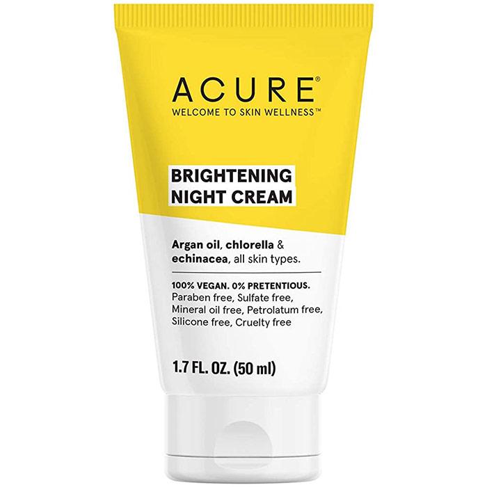 Acure Brilliantly Brightening Night Cream, 1.7 oz