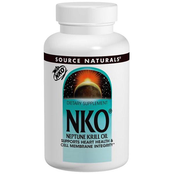 NKO Neptune Krill Oil 1000 mg, 90 Softgels, Source Naturals