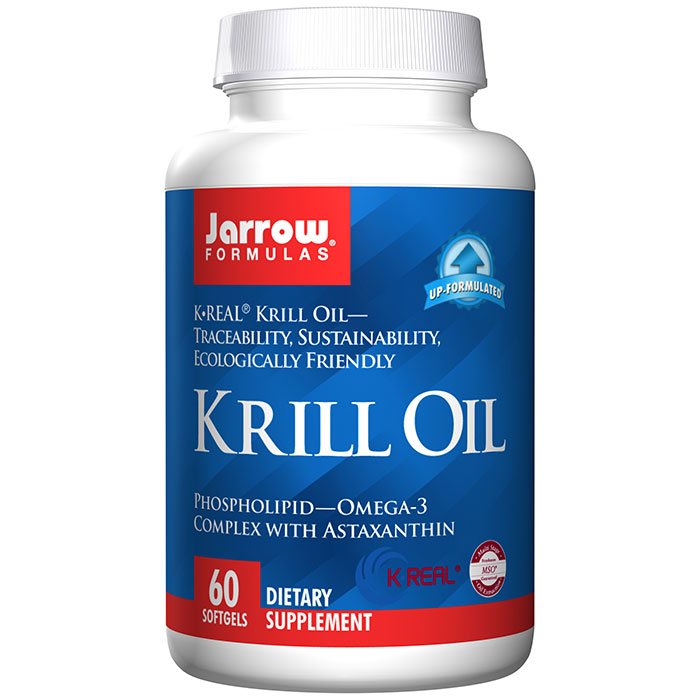 Krill Oil, Phospholipid Omega-3, 60 Softgels, Jarrow Formulas