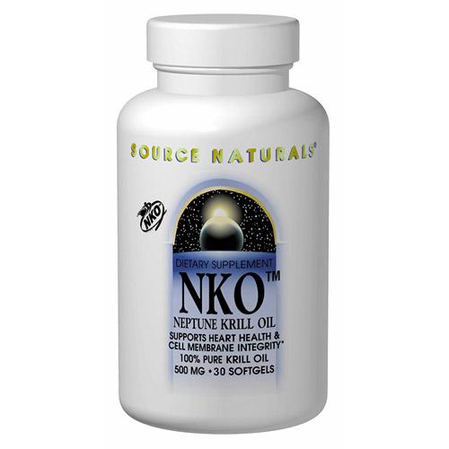 NKO Neptune Krill Oil 500mg, 60 Softgels, Source Naturals