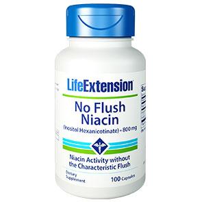 No Flush Niacin (Inositol Hexanicotinate) 800 mg, 100 Capsules, Life Extension