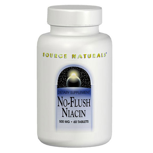 No-Flush Niacin Inositol Nicotinate 500mg 60 tabs from Source Naturals