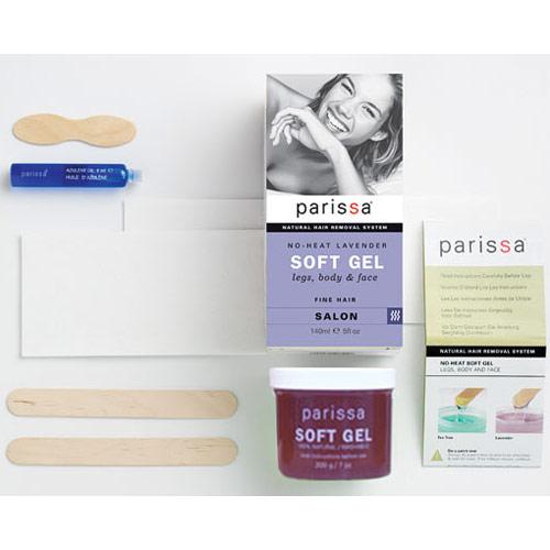 No-Heat Soft Gel Hair Removal, Lavender, 1 Kit, Parissa Natural Hair Removal System
