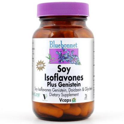 Non-GMO Soy Isoflavones Plus Genistein, 60 Vcaps, Bluebonnet Nutrition