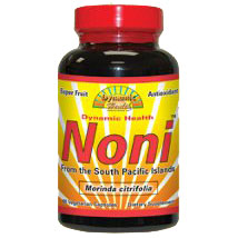 Noni (Morinda Citrifolia) From the South Pacific Islands, 60 Vegetarian Capsules, Dynamic Health Labs