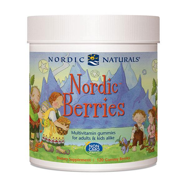 Nordic Berries, Chewable Multivitamin Gummies, 120 Gummy Berries, Nordic Naturals