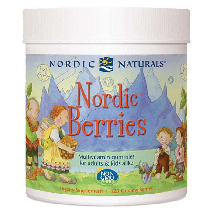 Nordic Berries - Cherry Berry, For Adults & Kids, 120 Gummy Berries, Nordic Naturals