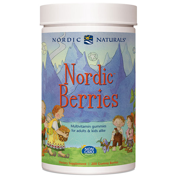 Nordic Berries, Multi-Vitamin Gummies, Value Size, 200 Gummies, Nordic Naturals