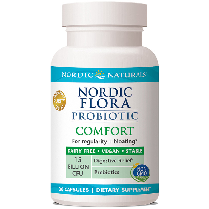 Nordic Flora Probiotic Comfort, 30 Capsules, Nordic Naturals