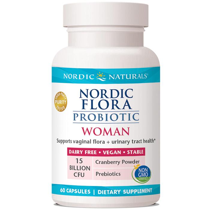 Nordic Flora Probiotic Woman, 60 Capsules, Nordic Naturals