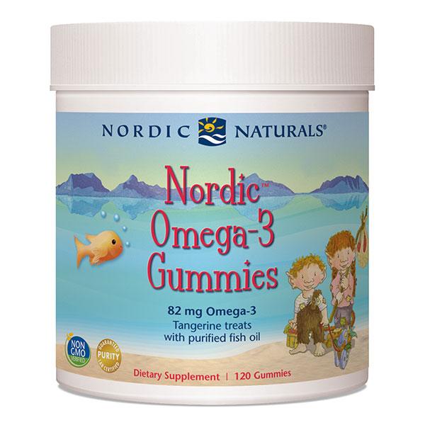 Nordic Omega-3 Gummies, Chewable Fish Oil, 120 Gummies, Nordic Naturals