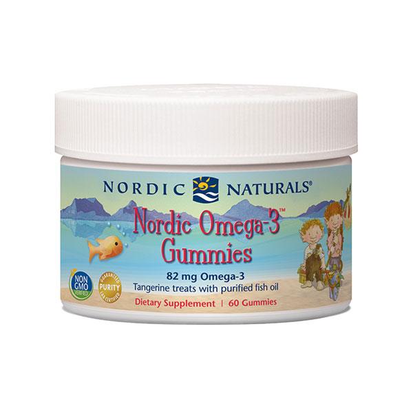 Nordic Omega-3 Gummies, Chewable Tangerine, 60 Gummies, Nordic Naturals
