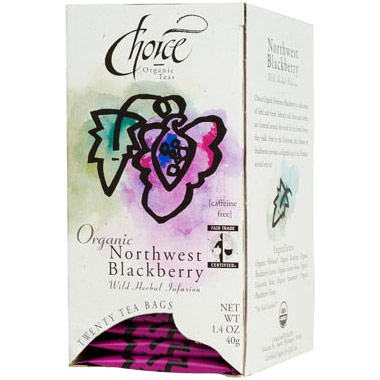 Organic Northwest Blackberry, Caffeine Free, 20 Tea Bags, Choice Organic Teas
