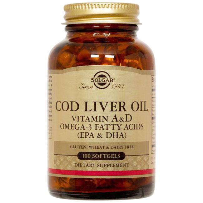 Cod Liver Oil, 100 Softgels, Solgar
