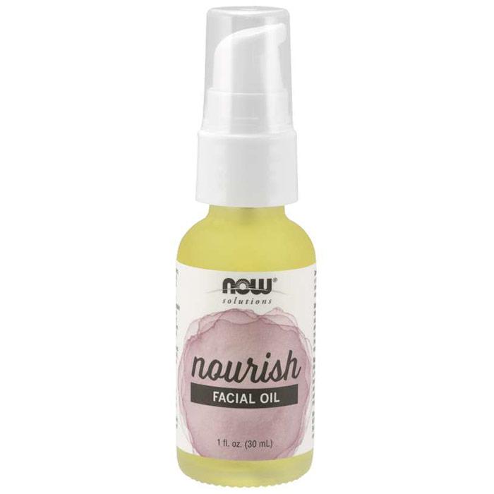Nourish Facial Oil, 1 oz, NOW Foods