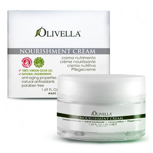 Nourishment Cream, Olive Oil Day & Night Skin Care, 1.69 oz, Olivella