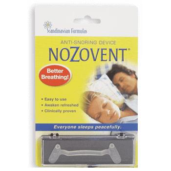 NoZovent Anti-Snoring Device 1 pack, Scandinavian Formulas