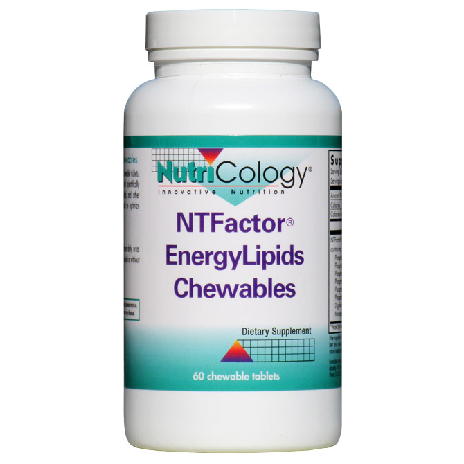 NT Factor EnergyLipids Chewable (Energy Lipids), 60 Tablets, NutriCology