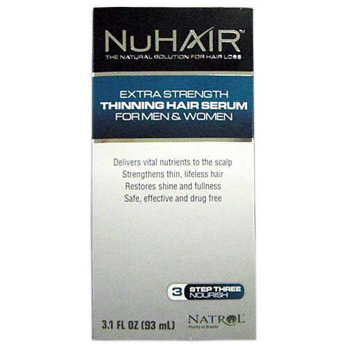 Nu Hair Serum, Thinning Hair Serum for Men & Women, 3 oz, NuHair