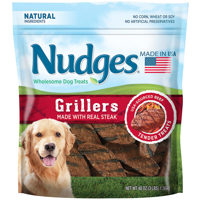 Nudges Wholesome Dog Treats, Steak Grillers, 48 oz (3 lb)