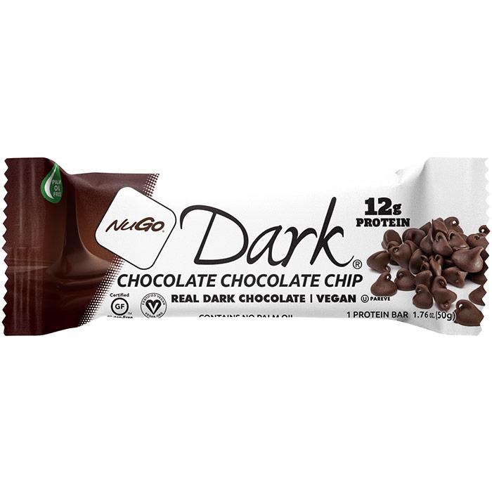 Nugo Dark Nutrition Bar, Chocolate Chocolate Chip, 1.76 oz x 12 pc, NuGo Nutrition