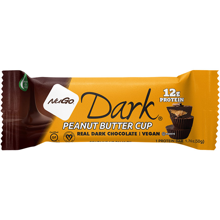 Nugo Dark Nutrition Bar, Peanut Butter Cup, 1.76 oz x 12 pc, NuGo Nutrition