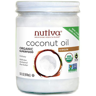 Nutiva Organic Virgin Coconut Oil, 15 oz