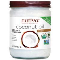 Nutiva Organic Virgin Coconut Oil (Glass Jar), 15 oz