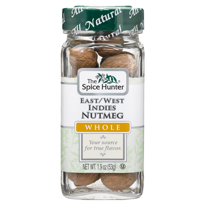 Image of Nutmeg, East/West Indies, Whole, 1.9 oz x 6 Bottles, Spice Hunter
