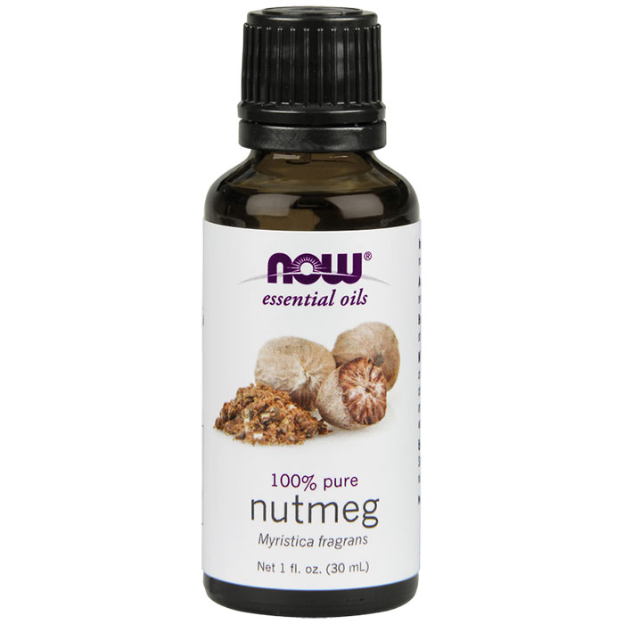 Nutmeg Oil Pure, 1 oz, NOW Foods