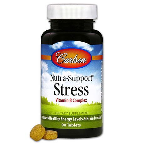 Nutra-Support Stress, Vitamin B Complex, 90 Tablets, Carlson Labs