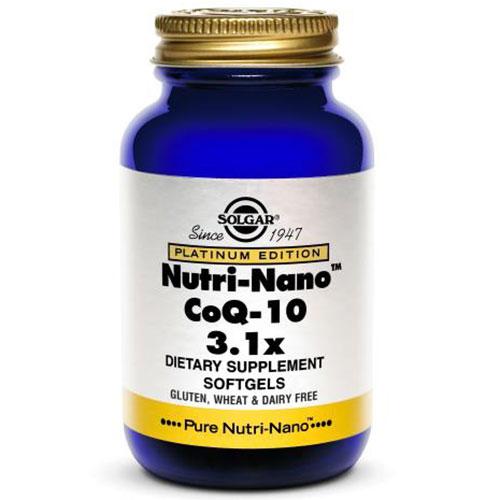 Nutri-Nano CoQ-10 3.1 x, Platinum Edition, 50 Softgels, Solgar