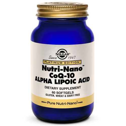 Nutri-Nano CoQ-10 Alpha Lipoic Acid, 60 Softgels, Solgar