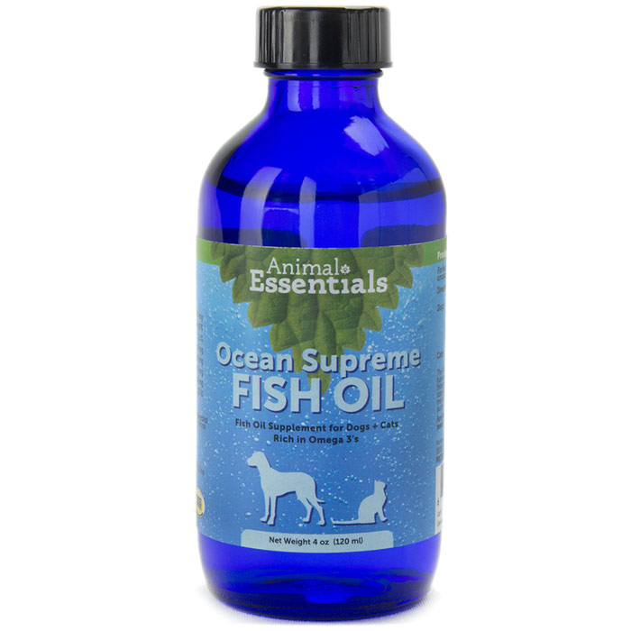 Ocean Omega Supreme Liquid Fish Oil Supplement for Dogs & Cats, 8 oz, Animal Essentials