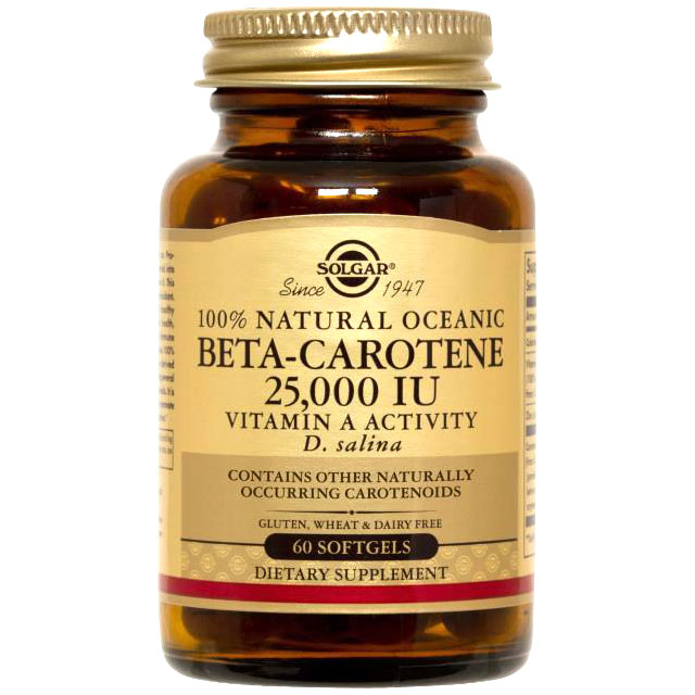 Oceanic Beta Carotene 25,000 IU, 90 Softgels, Solgar
