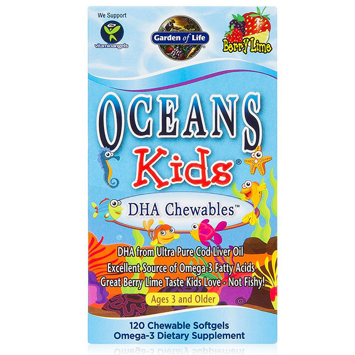 Oceans Kids DHA Chewables, 120 Chewable Softgels, Garden of Life